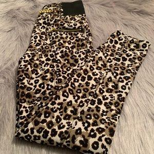 Animal Leopard Print Fleece Lined Leggings